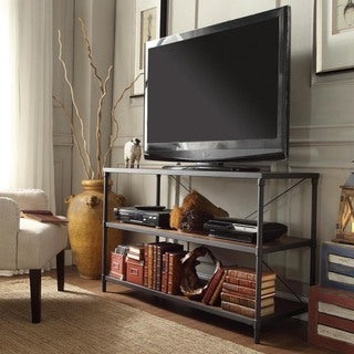 INSPIRE Q Harrison Industrial Rustic Pipe Frame TV Stand