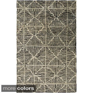 Jill Rosenwald : Hand-Knotted Forrest Geometric Jute Rug (8' x 11')