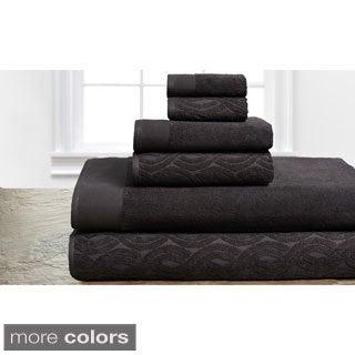 Elegance Spa 100-percent Egyptian Cotton Jacquard 6-piece Towel set