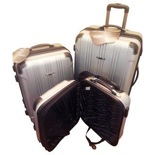 Travel Concepts Silver 3-piece Hardside Spinner Luggage Set