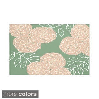 Floral Print Green Taupe/ Off White Purple/ Off White Purple/ Off White Rust/ Purple Grey Throw Blanket