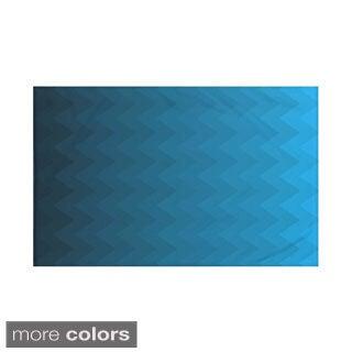 Stripes Print Teal/ Blue/ Aqua/ Green/ Dark Grey/ Rust/ Purple 60 x 80-inch Throw Blanket