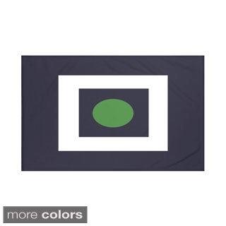 Geometric Print Navy Blue and Green/ Navy Blue and Yellow/ Red and Blue/ Taupe and Navy Blue 60 x 80-inch Throw Blanket