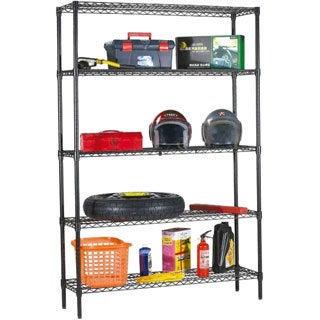 "Home Basics Wire 71"" High Five Shelf Storage Shelving Unit"