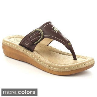 City Classified Travis Women's T-Strap Flip Flops Thong Sandal
