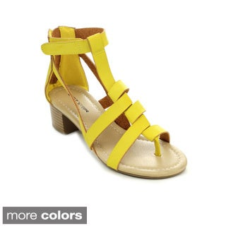 MARK & MADDUX STANLEY-08 Women's Strappy Gladiator Caged Thong Heels