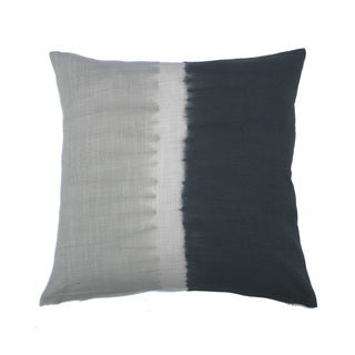 Jiti Tie-dye Halves Grey Charcoal 20-inch Square Pillow