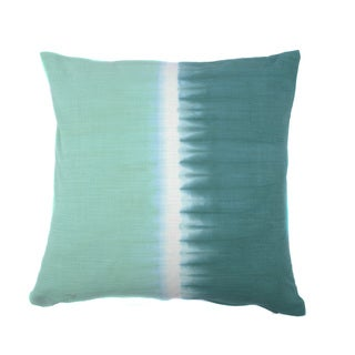 Jiti Tie-dye Halves Sea Green and Teal 20-inch Square Pillow