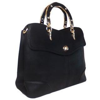 Lithyc 'Ciaran' Vegan Leather Structured Brief Handbag