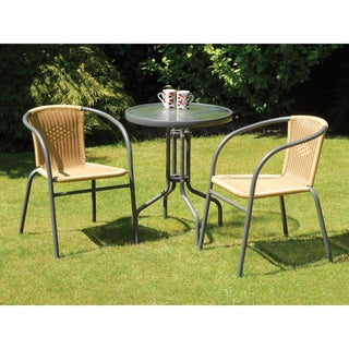 Bambi Rattan and Steel Bistro Set (3-pieces)
