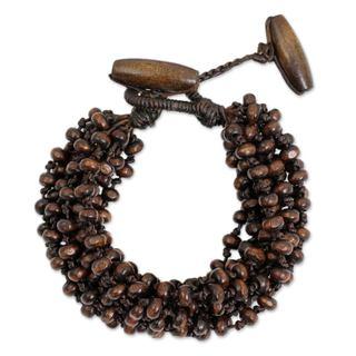 Handcrafted Littleleaf Boxwood 'Sukhothai Belle' Bracelet (Thailand)