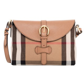 Burberry Small House Check and Leather Crossbody Bag