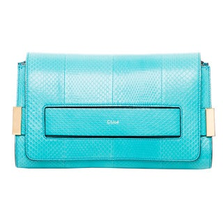 Chloe Elle Snake Embossed Leather Clutch