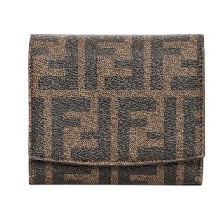 Fendi 'Small' Zucca Logo Wallet