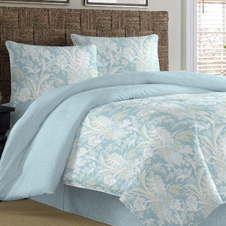 Tommy Bahama Tiki Bay Silver Blue Cotton 4-piece Comforter Set