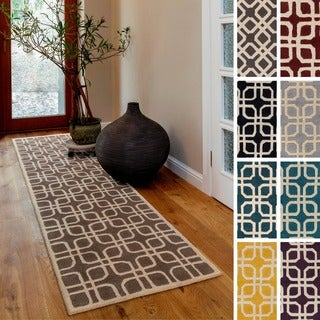 Artistic Weavers Hand-Tufted Brigg Crosshatched Wool Rug (2'3 x 10')