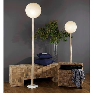Gonzales Modern Geometric Transitional Off-White Indoor Floor Lamp