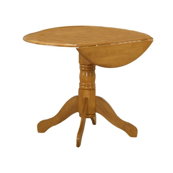 Spiced Oak Round Drop-leaf Dinette Table - Overstock Shopping - Great Deals on Dining Tables