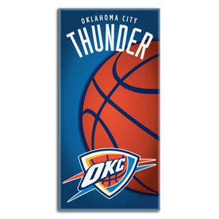 NBA 911 Thunder Emblem Beach Towel