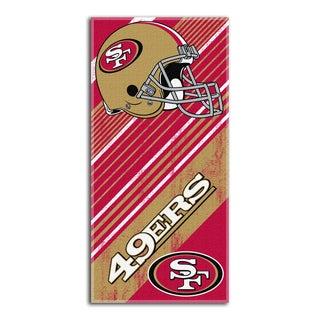 NFL 911 49ers Diagonal Beach Towel