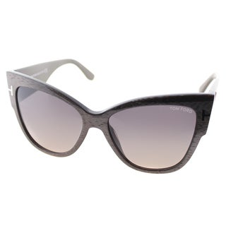 Tom Ford Anoushka Womens TF 371 38B Dove Grey Plastic Cat-Eye Sunglasses