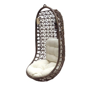 Panama Jack Island Cove Open Weave Hanging chair with cushion as shown