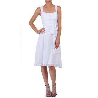 DFI Women's Sleeveless Cowl Neck Evening Gown