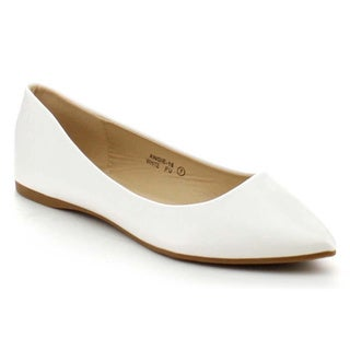 Bellamarie Angie-18 Women's Classic Pointy Toe Ballet Flat Shoes