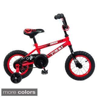 Tauki AMIGO 12 inch Kid Bike With Removable Training Wheels, Coaster Brake,