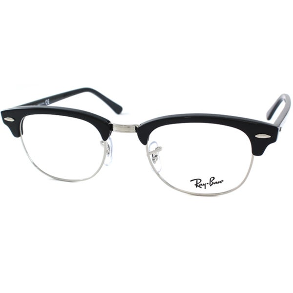 ray ban eyeglass frames review  Ray Ban Unisex RX 5154 Clubmaster 2000 Black And Silver Optical Eyeglasses Frames As Is Item 0576f0de 86f6 4299 96f2 222542bb79da_600