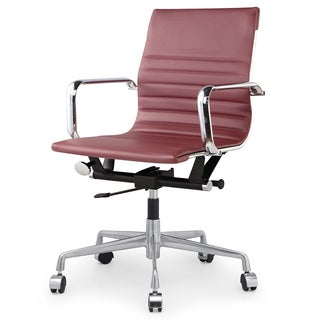 Dix Marsala Vegan Leather Office Chair