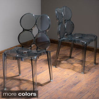 Christopher Knight Home Circleville Transparent PC Chair (Set of 2)