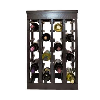 El Mar Furnishings 24 Bottle Classic Wood Wine Rack