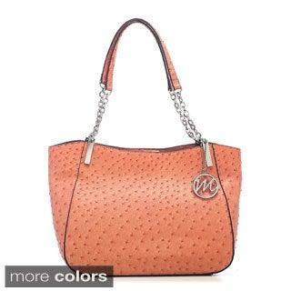 Emilie M Nancy Ostrich Chain Shoulder Bag