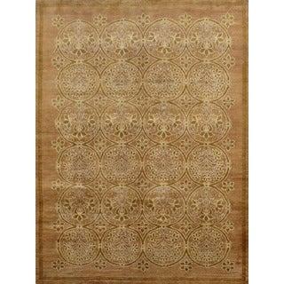 Pakistani Modern Floral Wool Area Rug (6' x 9'7)