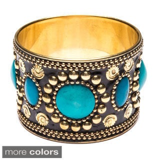 Oval Gem and Brass Bangle (India)