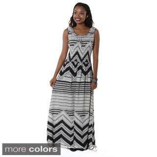 Hadari Women's Casual Printed Sleeveless Maxi Dress