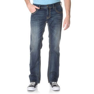 Seven7Jeans Men's Thick Stitch Embroidery Flap Straight Leg Jean
