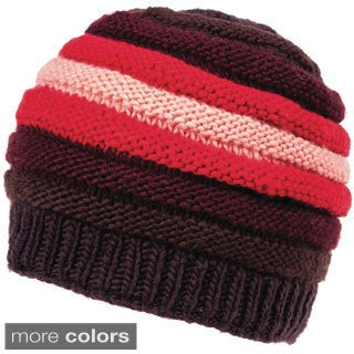 Gradient Reverse Cable Merino Wool Beanie