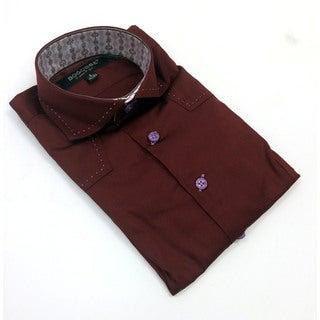 Bogosse Boy's Red Long Sleeve Button Down Shirt