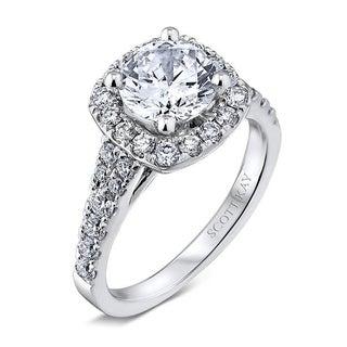 Scott Kay Palladium Silver 1/2ct TDW Diamond Semi Mount Engagement Ring (G-H, VS2)