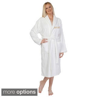 "Authentic Hotel & Spa ""Mom"" Terry Cloth Turkish Cotton Bath Robe"