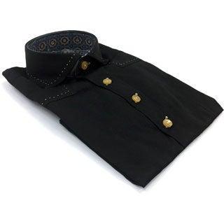 Bogosse Boy's Black Button-down Shirt