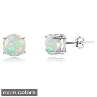 Glitzy Rocks Sterling Silver Ethiopian Opal Stud Earrings