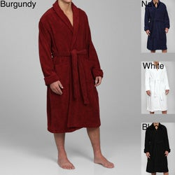 Alexander Del Rossa Men's Terry Cotton Bath Robe