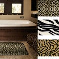 Animal Print Memory Foam 20 x 32 inch Bath Mats (Set of 2)