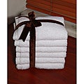 Authentic Hotel and Spa Plush Soft Twist Turkish Cotton White Wash Cloths (Set of 6)