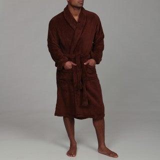Woven Workz Unisex 'Boston' Chocolate Microfiber Bath Robe