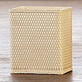 'Carter' Ivory Rectangular Woven Wastebasket