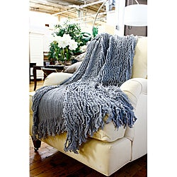 Charlotte Grey Ruffled Throw